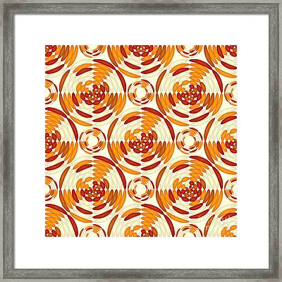 Orange Pattern Framed Print