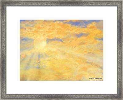Orange Peak Framed Print by Leslie Rhoades