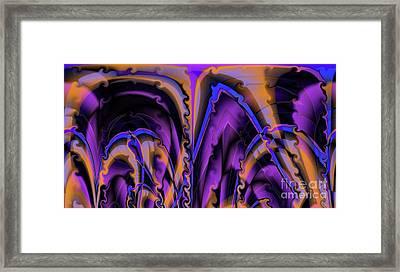 Orange Peel Framed Print by Ron Bissett
