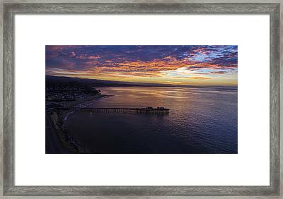 Orange Peel Sunrise Framed Print by David Levy
