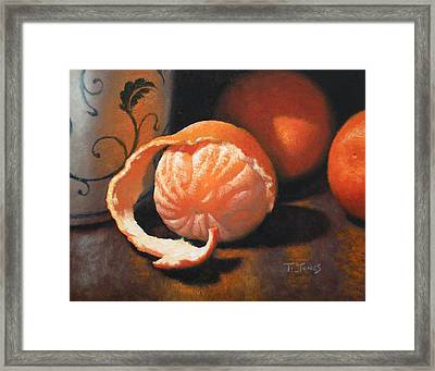 Orange Peeled Framed Print by Timothy Jones