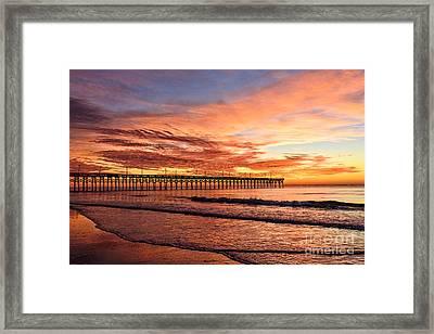 Orange Pier Framed Print