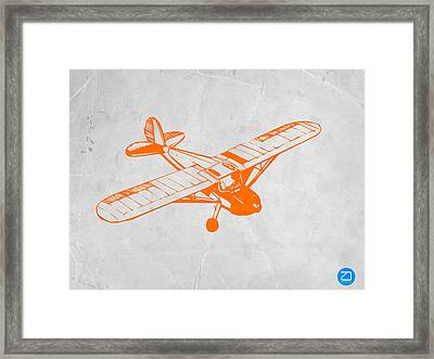 Orange Plane 2 Framed Print by Naxart Studio