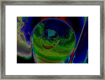 Orange Planet Eight Framed Print by Joshua Sunday