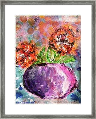 Orange Poppies Framed Print by Lisa McKinney