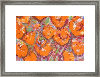 Orange Poppies Framed Print by Gallery Messina