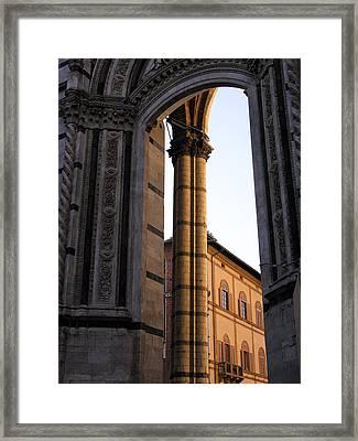 Orange Portal Framed Print by Alan Todd