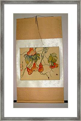 Framed Print featuring the painting Orange Prevails by Debbi Saccomanno Chan