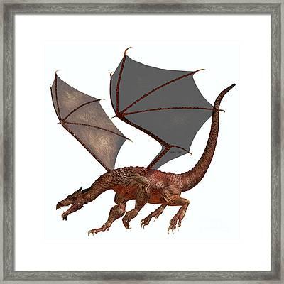 Orange Red Dragon Framed Print by Corey Ford