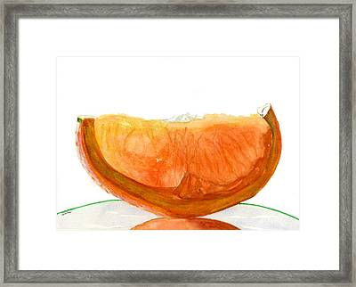 Orange Reflection Framed Print