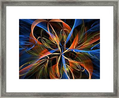 Orange Ribbons Framed Print