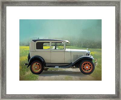 Framed Print featuring the photograph Orange Rims by Robin-Lee Vieira