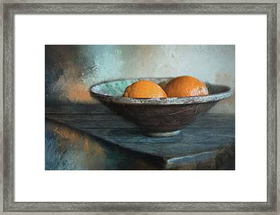 Framed Print featuring the photograph Orange by Robin-Lee Vieira