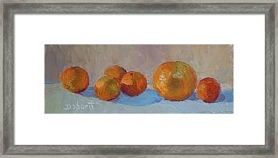 Orange Roll Framed Print by Donna Shortt