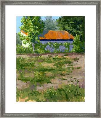 Orange Roof Framed Print by David King