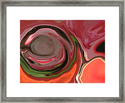 Orange Rose Abstract Framed Print by Linnea Tober
