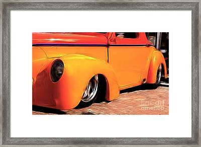 Orange Rush - 1941 Willy's Coupe Framed Print by Darleen Stry