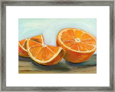 Orange Framed Print by Sarah Lynch