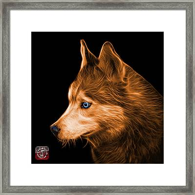 Framed Print featuring the painting Orange Siberian Husky Art - 6048 - Bb by James Ahn