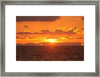 Orange Skies At Dawn Framed Print