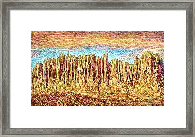 Orange Sky Cliffs - Colorado Framed Print