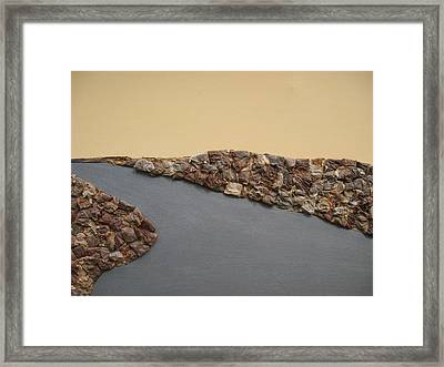 Orange Sky Framed Print by Gail Hinchen