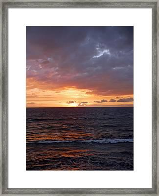 Orange Sky Framed Print