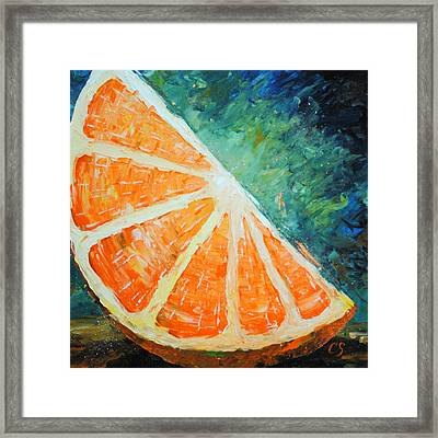 Orange Slice Framed Print