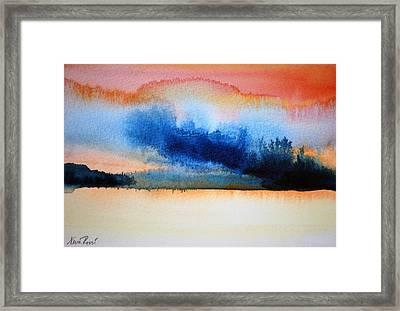Orange Solitude Framed Print by Neva Rossi