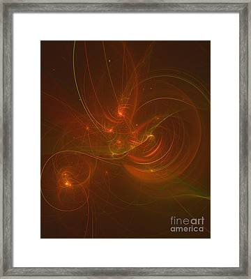 Orange Space Framed Print