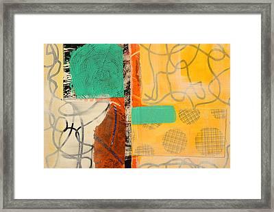 Orange Splatter 3 Framed Print