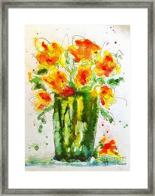 Framed Print featuring the painting Orange Splendor by Claire Bull