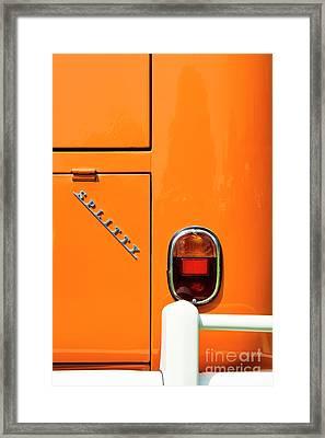 Orange Splitty Framed Print