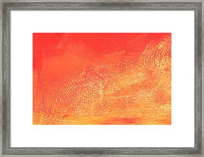 Orange Stone Framed Print by Tom Gowanlock