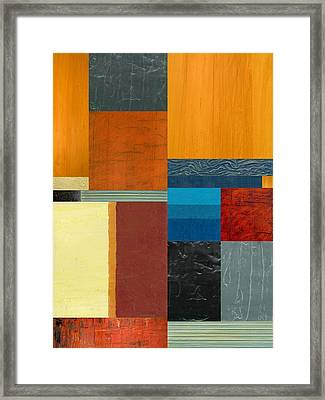 Orange Study With Compliments 3.0 Framed Print by Michelle Calkins