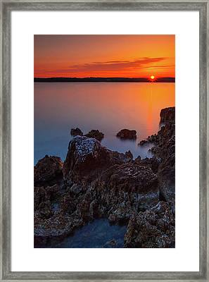 Orange Sunrise Framed Print