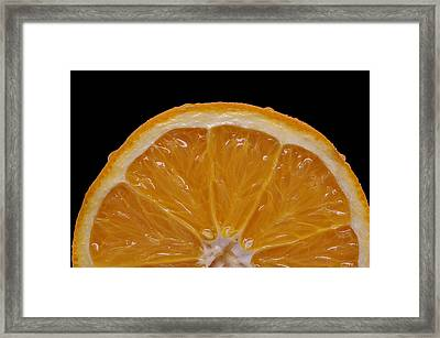 Orange Sunrise On Black Framed Print