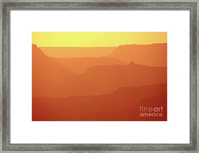 Orange Sunset At Grand Canyon Framed Print by RicardMN Photography