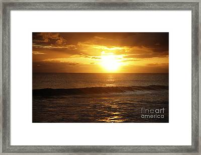 Orange Sunset Framed Print by Brandon Tabiolo - Printscapes