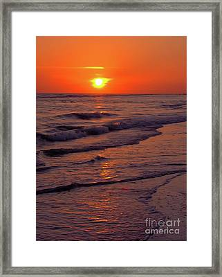 Orange Sunset Framed Print