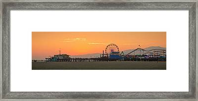 Orange Sunset - Panorama Framed Print