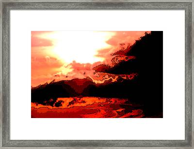 Orange Sunset Framed Print by Kimberly Camacho