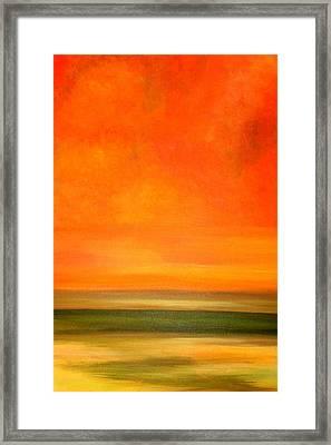 Orange Sunset Framed Print by Marcia Crispino