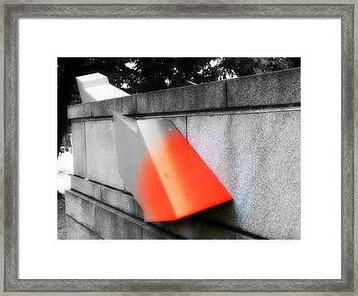 Orange Tipped Arrow Framed Print