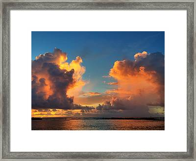 Orange To The Left And To The Right Framed Print