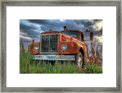 Orange Truck Framed Print