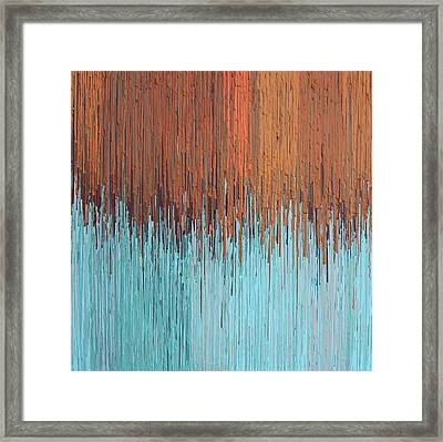 Orange Turquoise  Framed Print by Kate Tesch