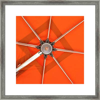 Orange Umbrella #photography Framed Print