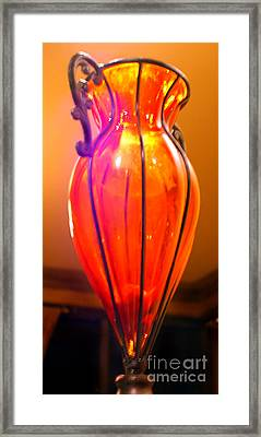 Orange Vase Framed Print by Heather S Huston