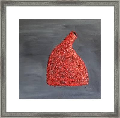 Orange Vase Framed Print by Leslye Miller